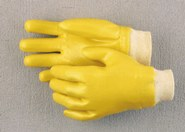YELLOW VINYL KNITWRIST